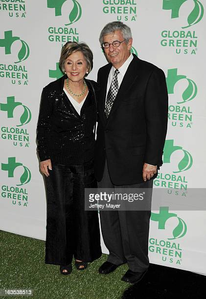 S Senator Barbara Boxer and Stewart Boxer arrive at Global Green USA's 10th Annual PreOscar party at Avalon on February 20 2013 in Hollywood...
