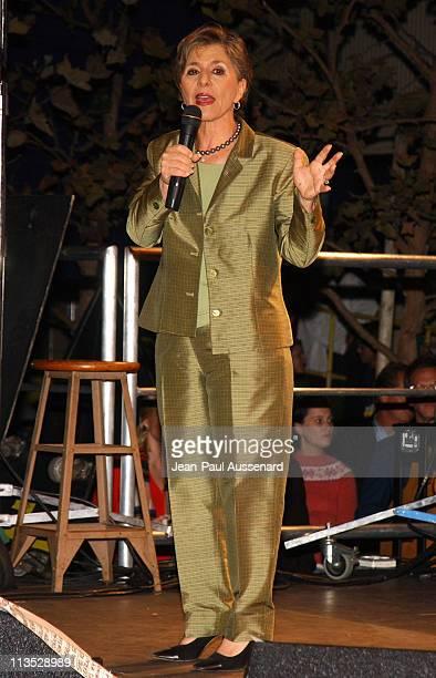 Senator Barbara Boxer during Democracy for the Senate Rally and Red Hot Chili Peppers Concert in Santa Monica CA at Bergamot Station in Santa Monica...