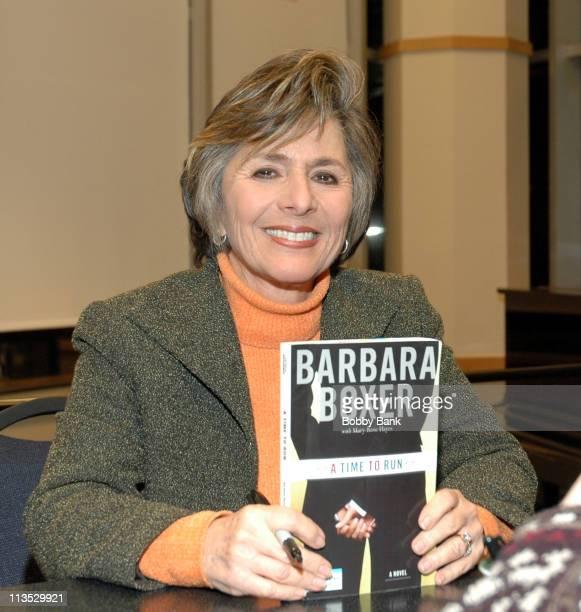 US Senator Barbara Boxer during Senator Barbara Boxer Signs Her Book A Time to Run at Barnes Noble in New York City December 9 2005 at Barnes Noble...