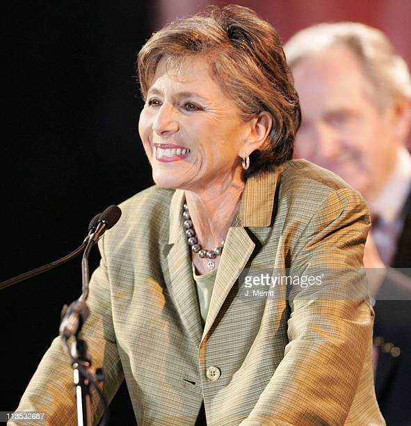 Senator Barbara Boxer during The Red Hot Chili Peppers Perform as the Democrats Rally to 'Take Back The Senate' at Bergamot Station in Santa Monica...