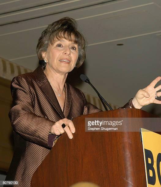 Senator Barbara Boxer speaks at Senator Barbara Boxer's Women Making History Honors Annette Bening at the St Regis Hotel on April 30 2004 in Century...