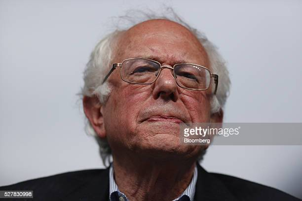 Senator Bernie Sanders an independent from Vermont and 2016 Democratic presidential candidate pauses during a campaign event in Louisville Kentucky...