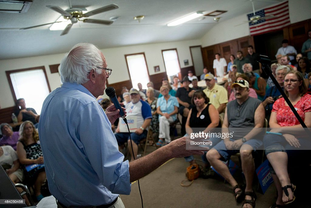 Bernie Sanders Makes Campaign Stops In Iowa After Iowa State Fair : News Photo
