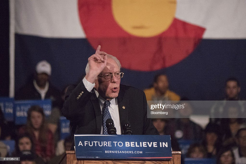 Presidential Candidate Bernie Sanders Holds Colorado Campaign Rally : News Photo