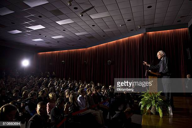 Senator Bernie Sanders an independent from Vermont and 2016 Democratic presidential candidate speaks during a town hall event at the University of...