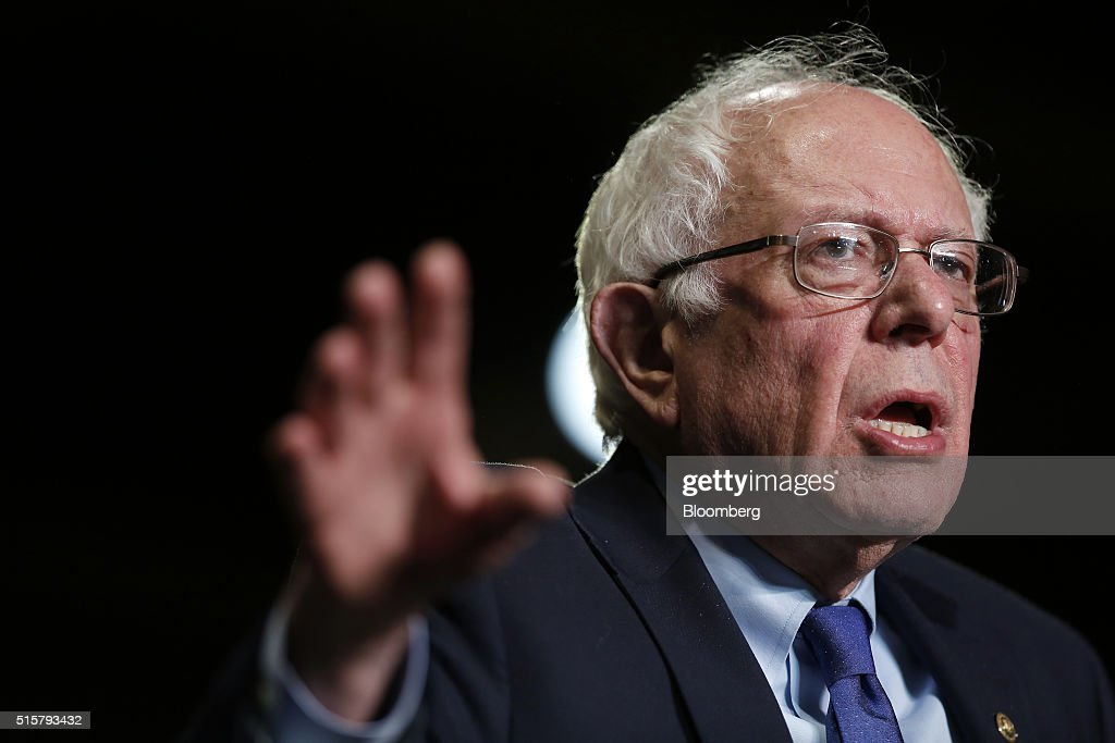 Presidential Candidate Bernie Sanders Holds Election Night Rally : News Photo