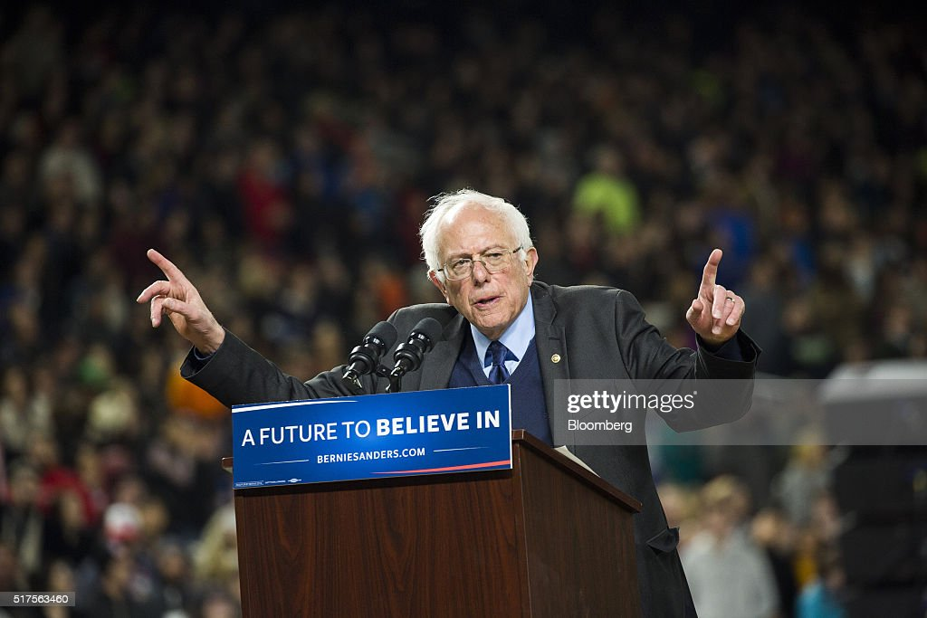 Presidential Candidate Bernie Sanders Holds Campaign Rally Ahead Of Washington Caucus : News Photo