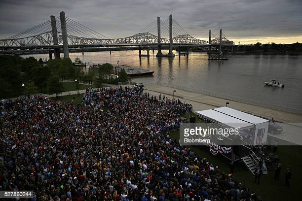 Senator Bernie Sanders an independent from Vermont and 2016 Democratic presidential candidate speaks during a campaign event in Louisville Kentucky...