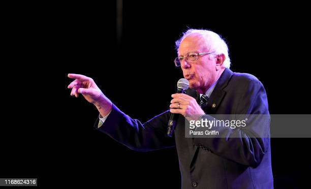 Senator Bernie Sanders, an independent from Vermont and 2020 presidential candidate, speaks onstage during the 2019 Young Leaders Conference - 2020...