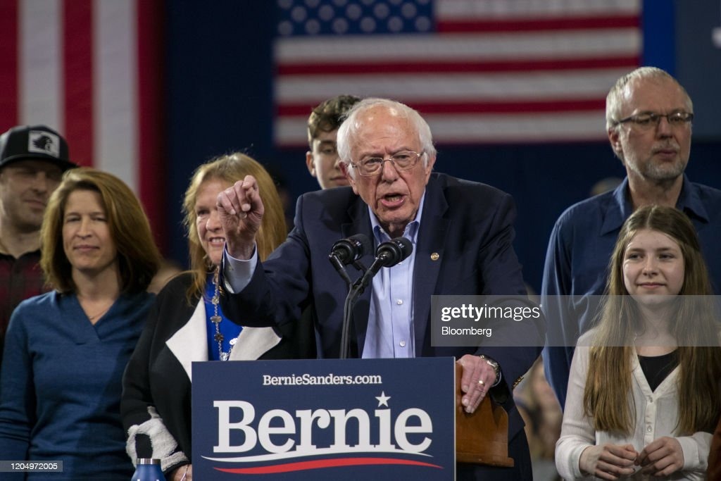 Bernie Sanders Hosts Primary Night Rally : News Photo