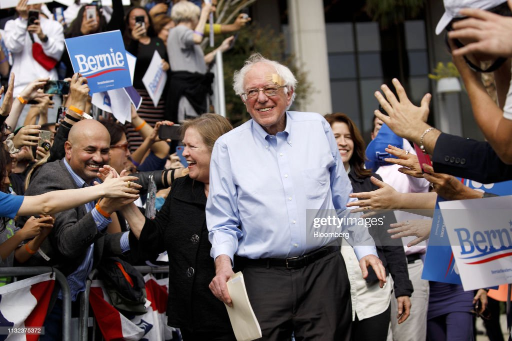 CA: Senator Bernie Sanders Holds Campaign Rally