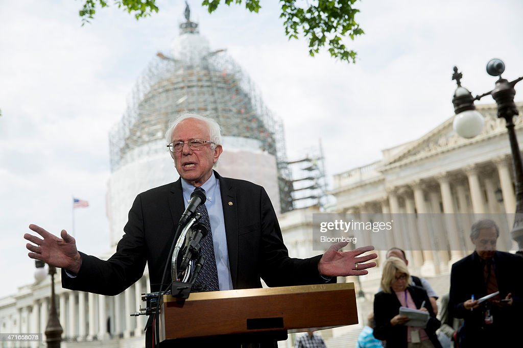 Senator Bernie Sanders Holds News Conference After Announcing Presidential Run : News Photo