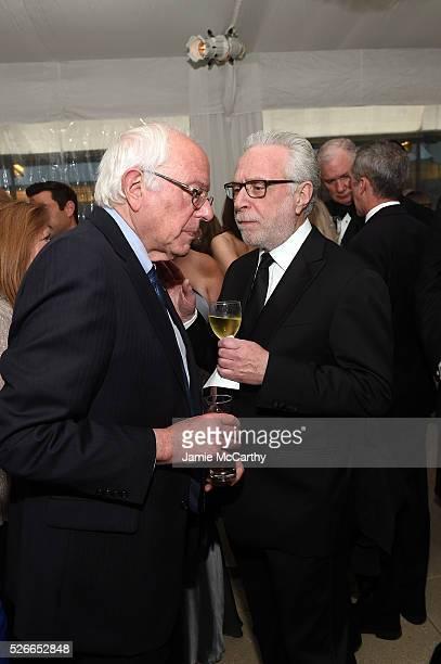 Senator Bernie Sanders and journalist Wolf Blitzer attend the Atlantic Media's 2016 White House Correspondents' Association PreDinner Reception at...