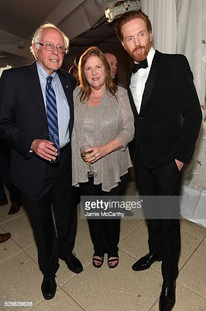 Senator Bernie Sanders Jane Sanders and Damian Lewis attend the Atlantic Media's 2016 White House Correspondents' Association PreDinner Reception at...