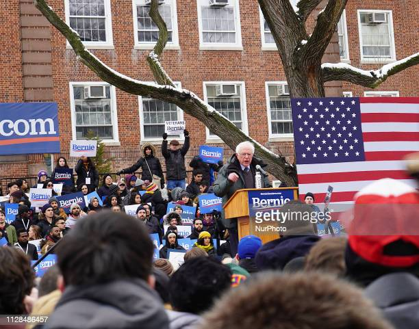Senator Bernie Sanders launched his 2020 presidential campaign at his alma mater Brooklyn College in his hometown Brooklyn New York US on 2 March 2019