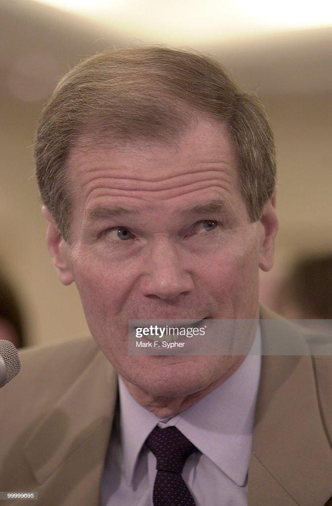 Senator Bill Nelson ((D-FL) testifying before the Senate banking Committee on Wednesday.