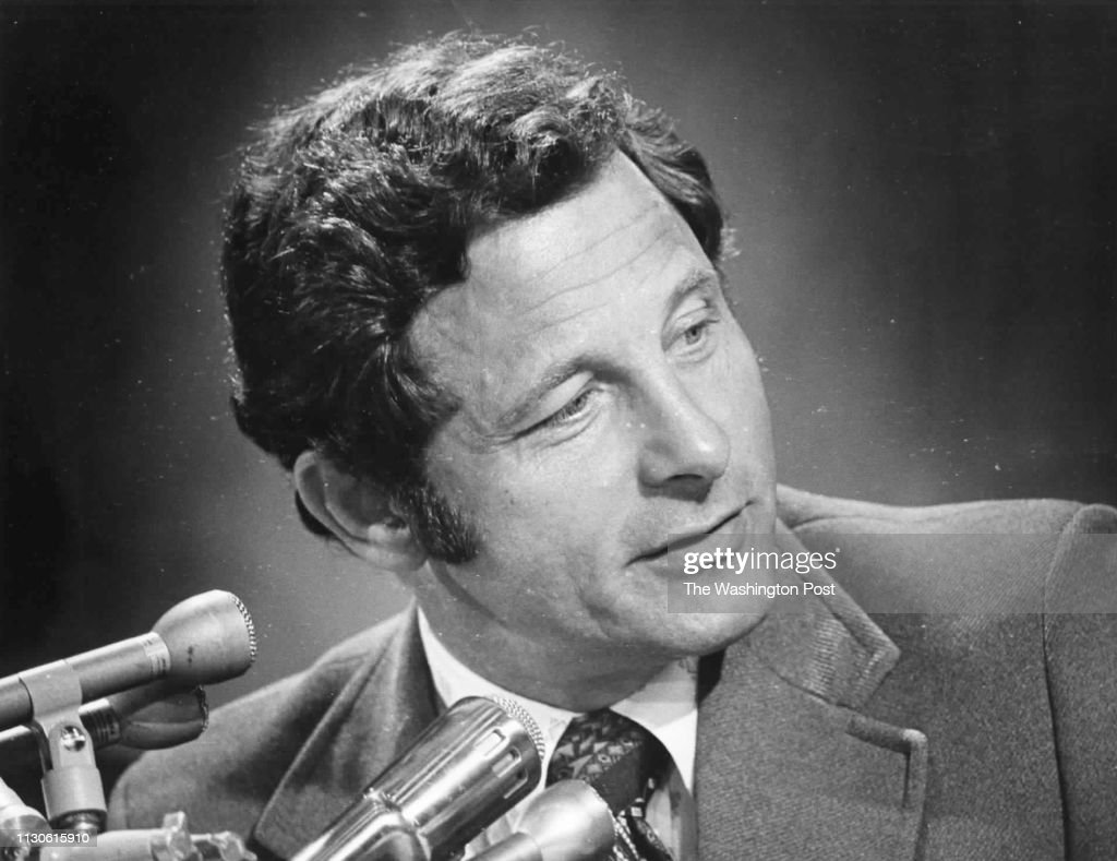 Senator Birch Bayh listens to witnesses during a Senate Judiciary Committee hearing on voting representation for D.C. : News Photo