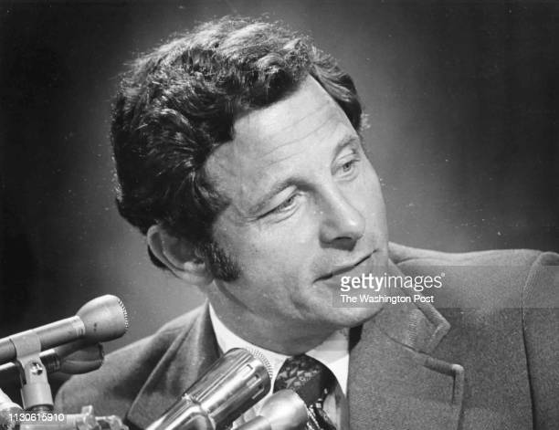 Senator Birch Bayh listens to witnesses during a Senate Judiciary Committee hearing on voting representation for DC in Washington DC on July 19 1973