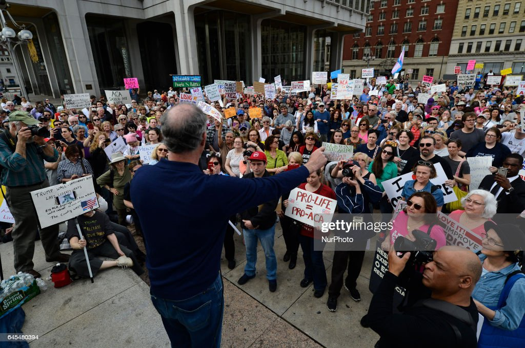 Protestors Rally Against Transgender Bathroom Rights Repeal