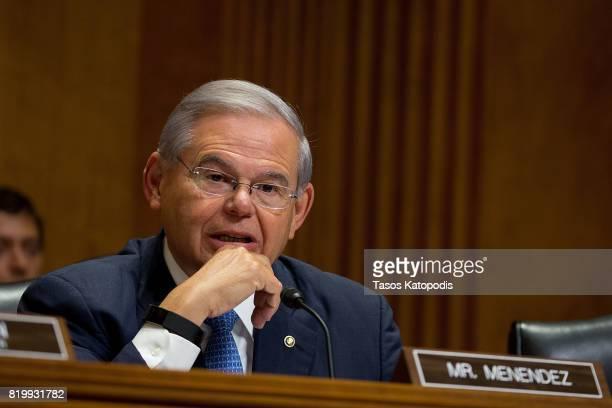 Senator Bob Menendez at Capitol Hill on July 20 2017 in Washington DC