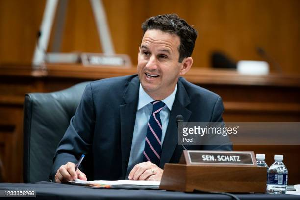 Senator Brian Schatz speaks during a Senate Appropriations Subcommittee hearing on June 9, 2021 at the U.S. Capitol in Washington, D.C. The committee...