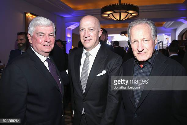 Senator Chris Dodd cohost Bryan Lourd and director Michael Mann attend the 5th Annual Sean Penn Friends HELP HAITI HOME Gala Benefiting J/P Haitian...