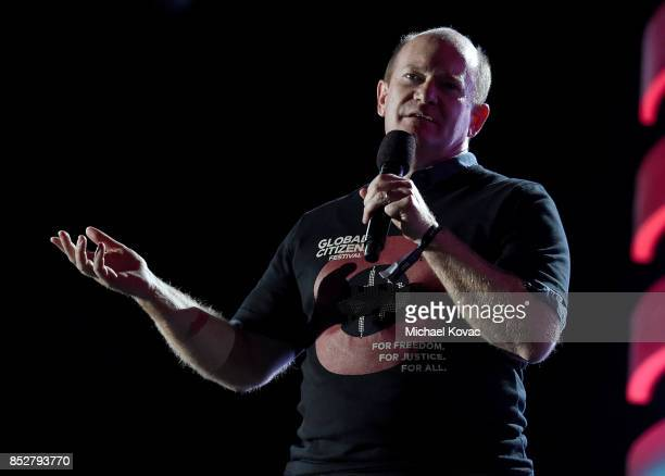 S Senator Christopher Coons speaks onstage during the 2017 Global Citizen Festival in Central Park to End Extreme Poverty by 2030 at Central Park on...