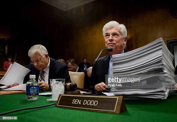 June 17: Senator Christopher J. Dodd , right, the acting chair of the Senate Health, Education, Labor and Pensions Committee, and Senator Michael B....