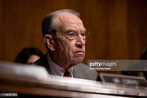 Senator Chuck Grassley , speaks during a Senate Judiciary Committee hearing with Acting Homeland Security Secretary Kevin McAleenan on Capitol Hill...