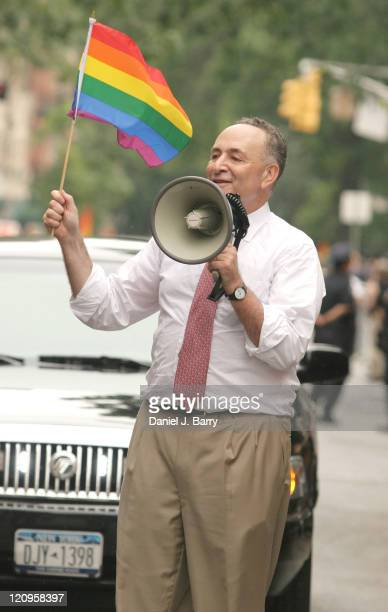 Senator Chuck Schumer during Gay Pride March 2006 The Fight for Love Life at Street Location in New York City New York United States