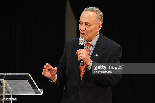 Senator Chuck Schumer speaks at City Harvest's 20th annual Bid Against Hunger on October 29 2014 in New York City