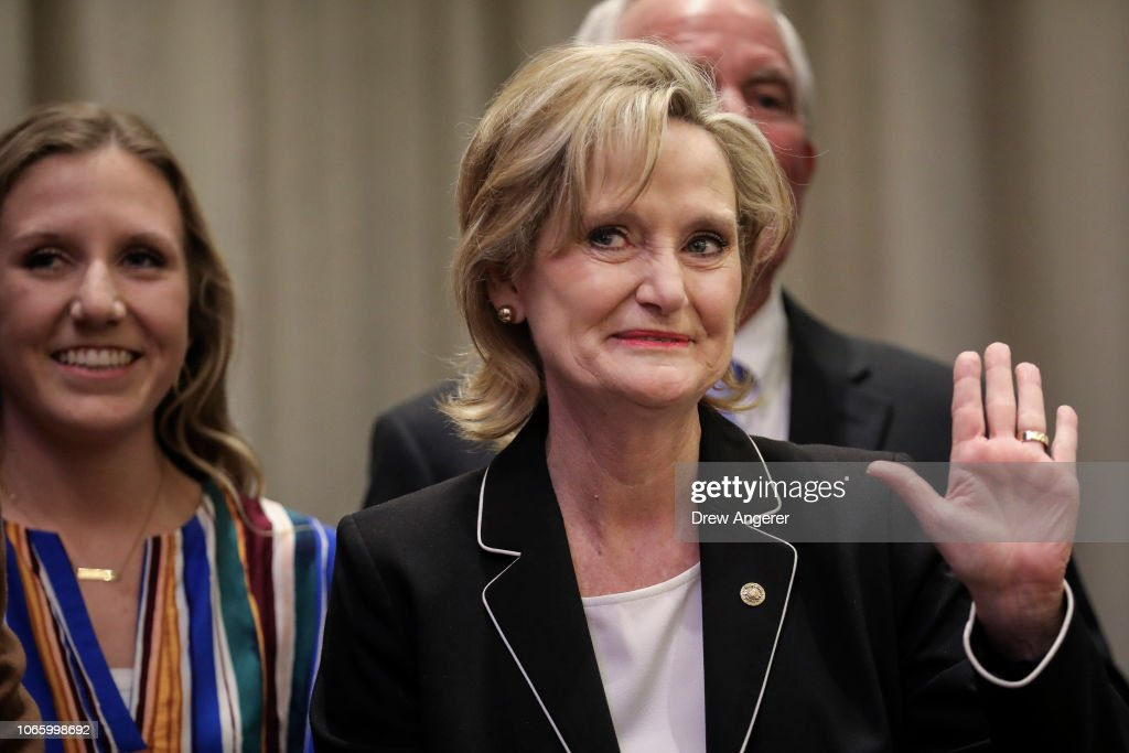 Cindy Hyde-Smith Holds Election Night Event In Tight Senate Runoff Election : News Photo