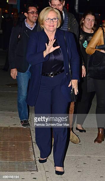 Senator Claire McCaskill is seen on November 9 2015 in New York City