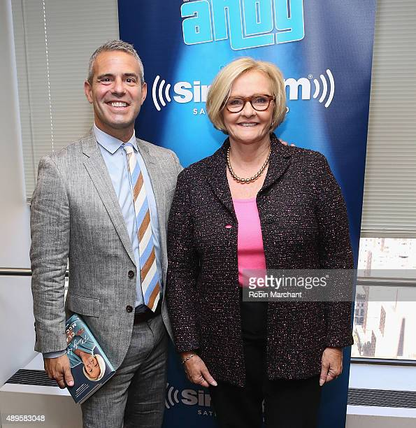Senator Claire McCaskill visits Deep Shallow with Andy Cohen on Andy Cohen's exclusive SiriusXM channel Radio Andy at SiriusXM Studios in New York...