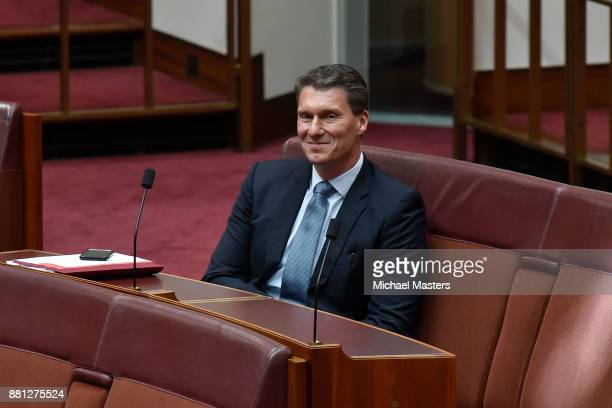 Senator Cory Bernardi during the debate of the marriage equality bill in the Senate at Parliament House on November 29 2017 in Canberra Australia The...