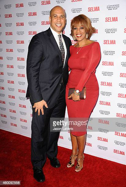Senator Cory Booker and Gayle King attend the 'Selma' and the Legends Who Paved the Way gala at Bacara Resort on December 6 2014 in Goleta California