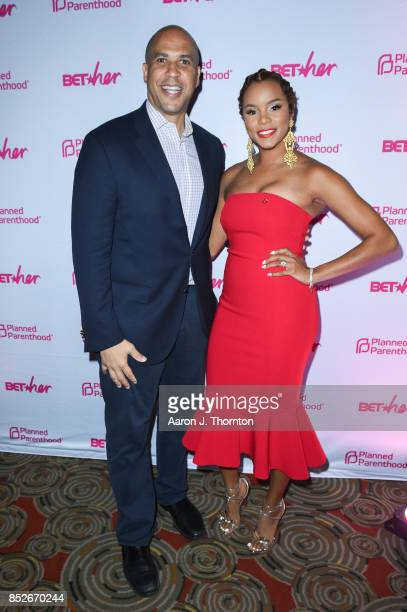 Senator Cory Booker and Singer Letoya Luckett pose at the 6th Annual Planned Parenthood Champions of Women's Health Brunch at The Hamilton on...