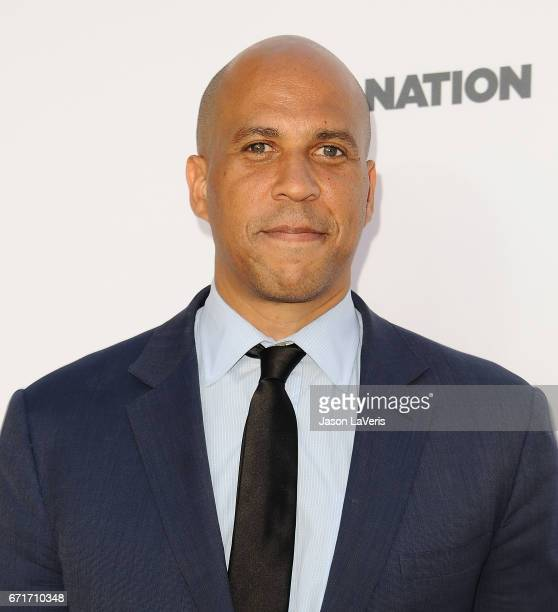 Senator Cory Booker attends Humane Society of The United States' annual To The Rescue Los Angeles benefit at Paramount Studios on April 22 2017 in...