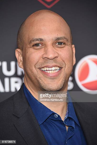 S Senator Cory Booker attends the 'Batman V Superman Dawn Of Justice' New York Premiere at Radio City Music Hall on March 20 2016 in New York City