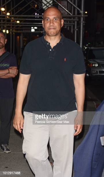 Senator Cory Booker is seen on August 7 2018 in New York City