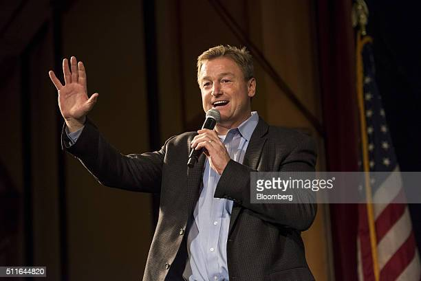 Senator Dean Heller, a Republican from Nevada, speaks during a campaign event for Senator Marco Rubio, a Republican from Florida and 2016...