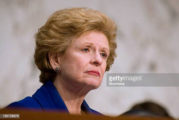 Senator Debbie Stabenow a Democrat from Michigan chairs a hearing of the Senate Agriculture Committee into the failure of MF Global Holdings Ltd in...