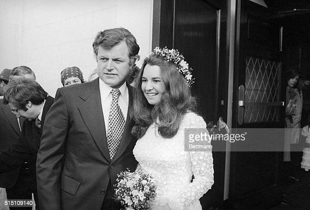 Senator Edward Kennedy escorts his niece Kathleen at her wedding to David L Townsend at Holy Trinity Catholic Church in Washington DC Kathleen...