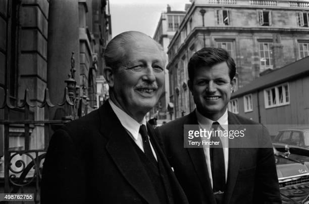 US Senator Edward Kennedy with British former Prime Minister Harold Macmillan London May 28th 1964
