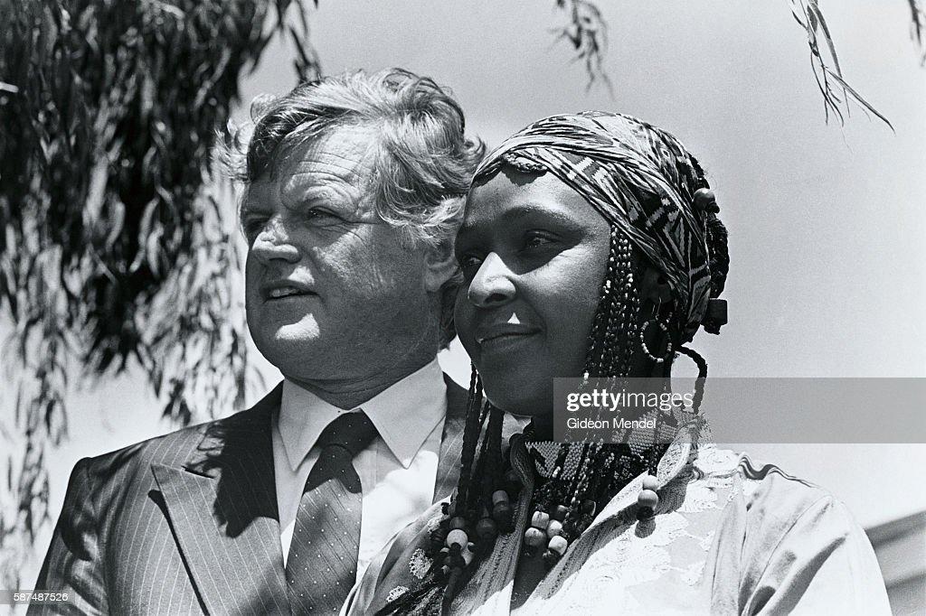 Senator Edward Kennedy with Winnie Mandela : News Photo