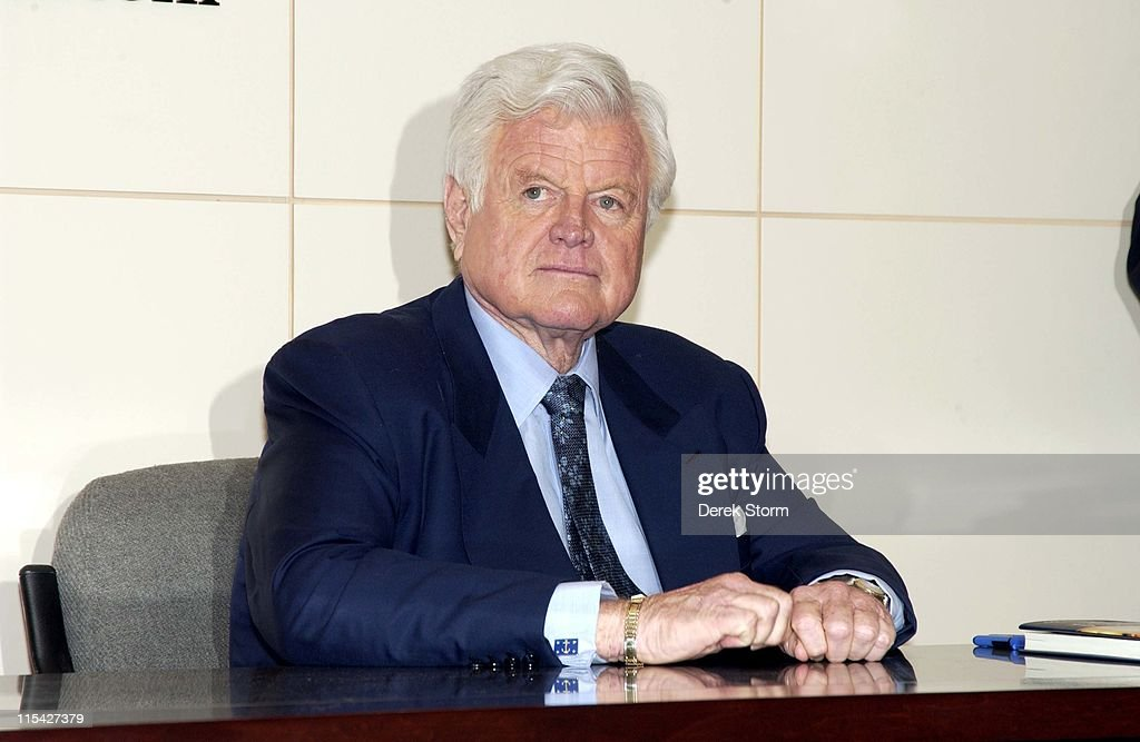 "Senator Edward M. Kennedy Signs His Book ""America Back on Track"" at Barnes &"