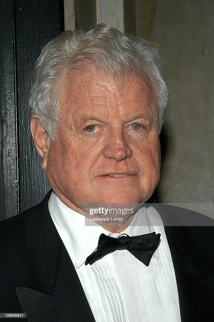 Senator Edward M. Kennedy during The 105th Annual Artists Awards Dinner Honoring Edwin Schlossberg at National Arts Club in New York City, New York, United States.
