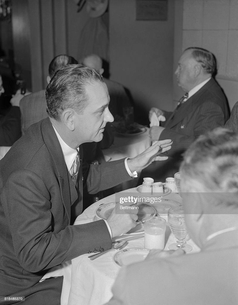 Senator elect Lyndon Johnson, , of Johnson city, Texas, who
