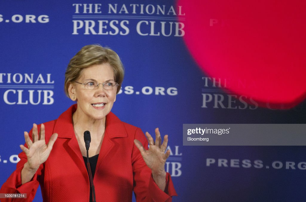 Senator Elizabeth Warren Speaks At The National Press Club