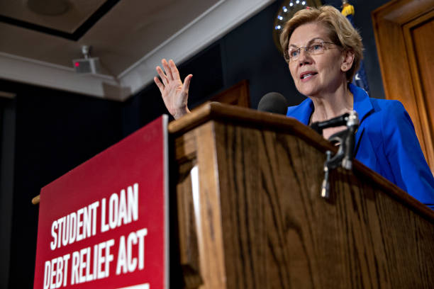 DC: Senator Warren And House Majority Whip Clyburn Hold News Conference On Student Loan Debt
